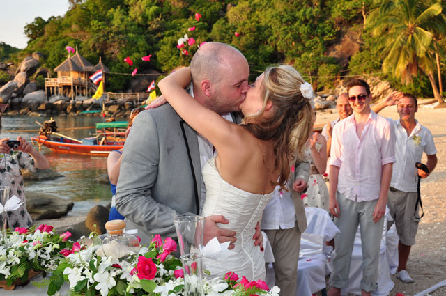 Boda en koh tao destino suratthani tailandia for East coast beach wedding locations